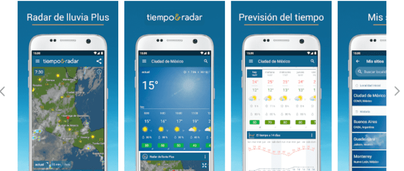 tiempo radar y clima 14 dias