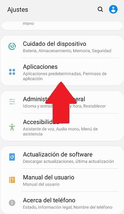 Ajustes de aplicaciones Android