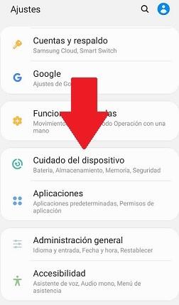 Cuidado del dispositivo Android