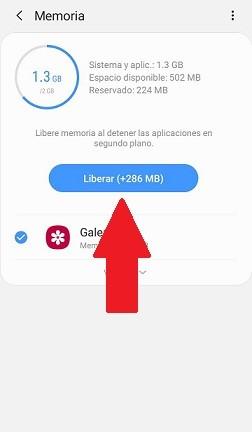 Liberar memoria 2 en Android