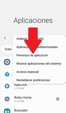 Permisos de aplicacion Android
