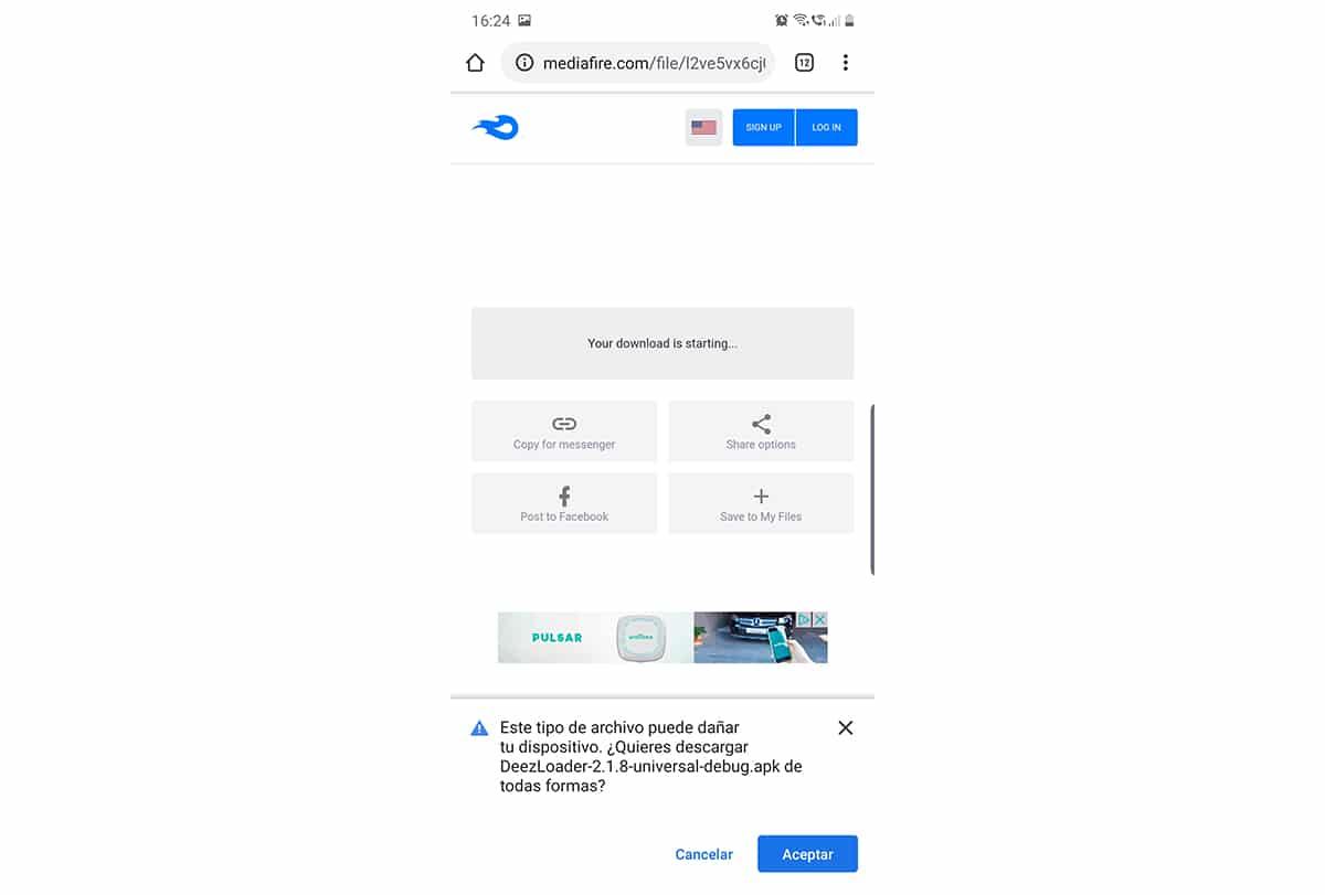 Descargar DeezLoader en Android