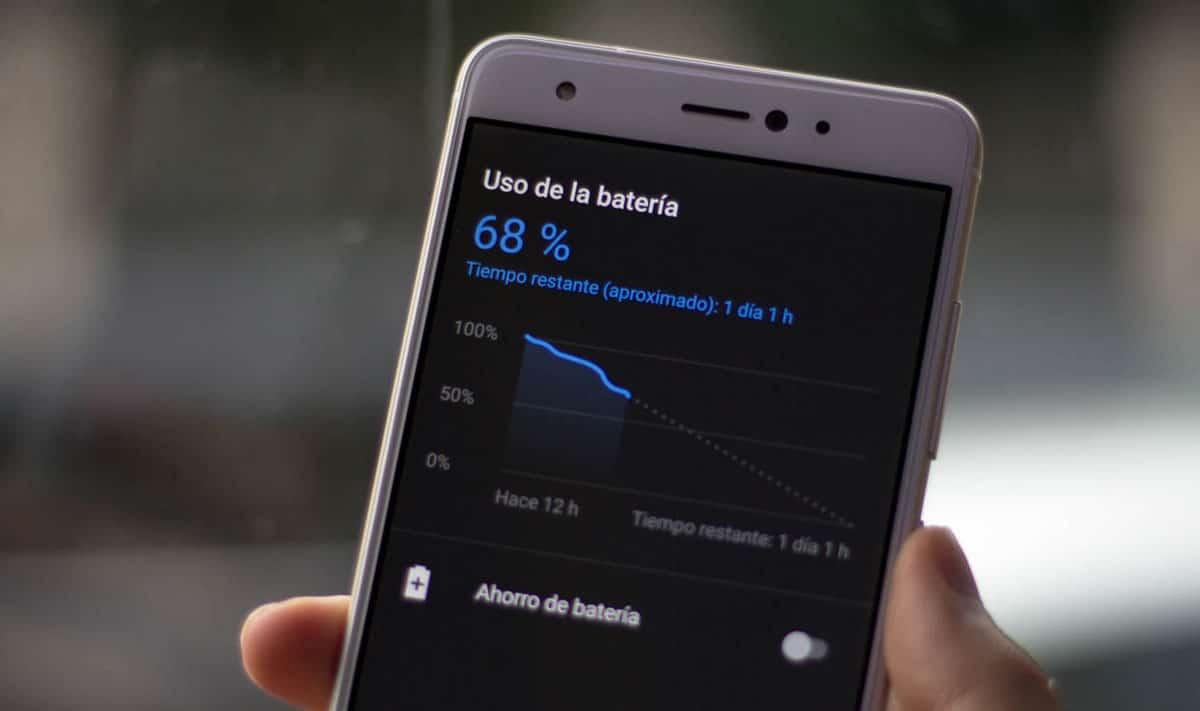 Estadísticas del uso de la batería del móvil