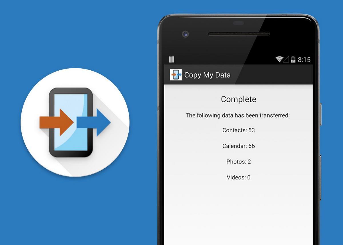 Copy My Data para transferir contactos de un móvil a otro