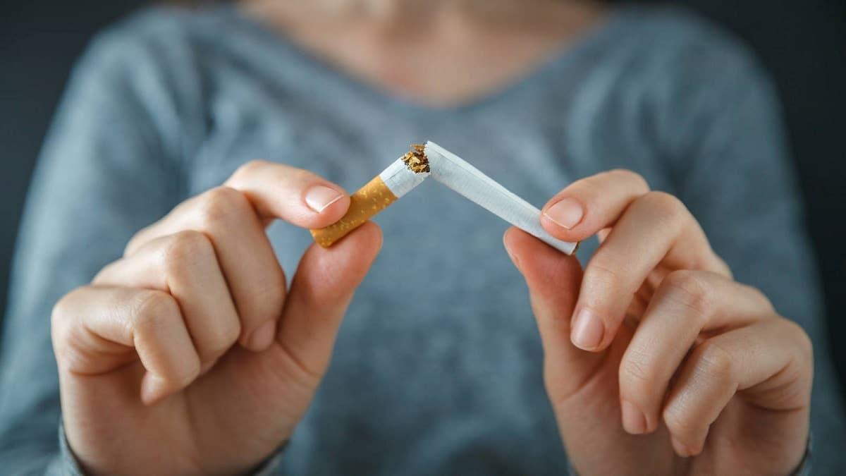 Cigarrillo partido por la mitad para dejar de fumar