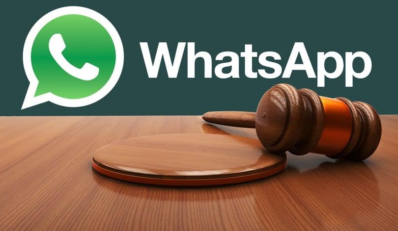 Problemas legales con WhatsApp al exportar chat de otros