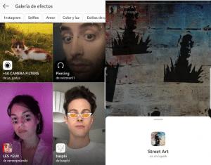 Conseguir filtros Instagram Stories