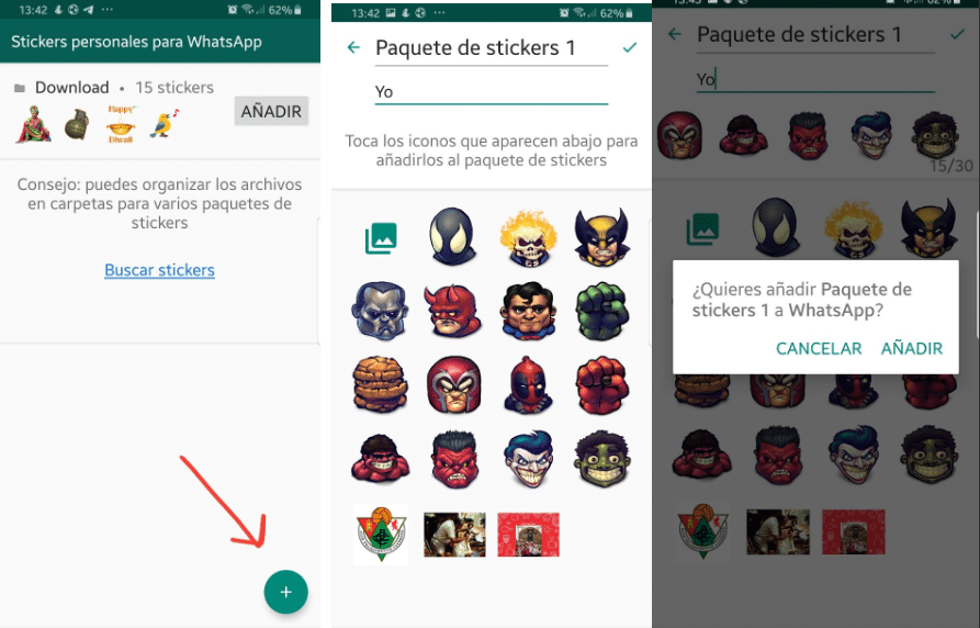 Stickers propios WhatsApp