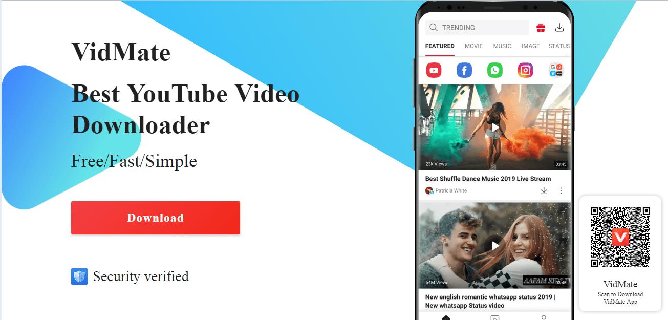 vidmate mejor app para descargar videos de youtube y musica