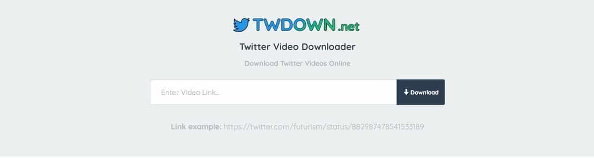 Twdown para bajar vídeos de Twitter