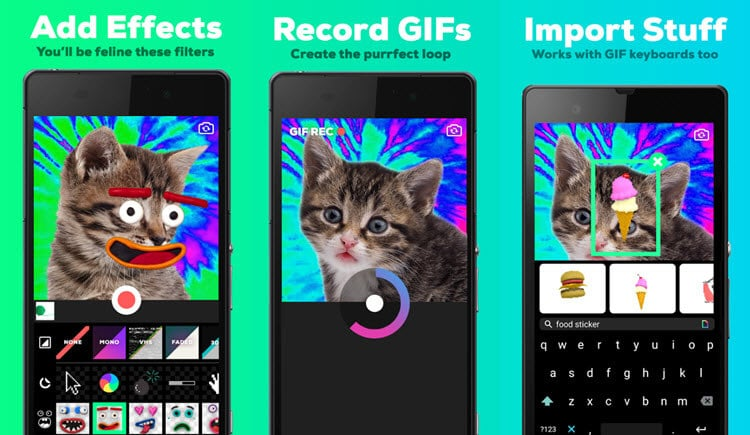 Giphy Cam para crear gifs en tu móvil