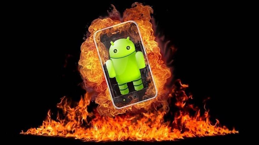 Móvil sobrecalentado en Android