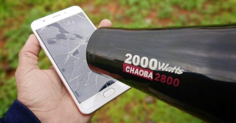 No apliques calor al móvil nunca