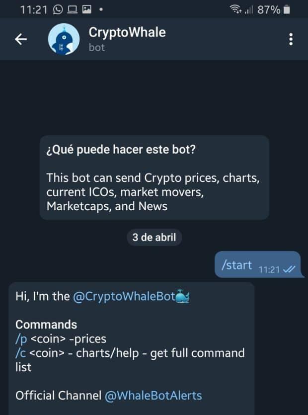 Bot criptomoneda
