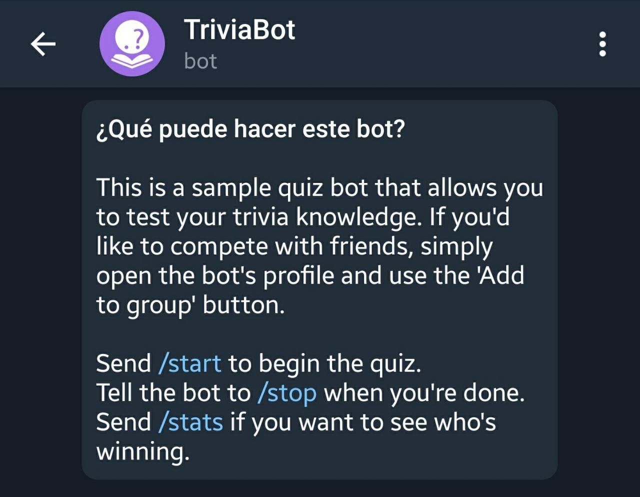TriviaBot