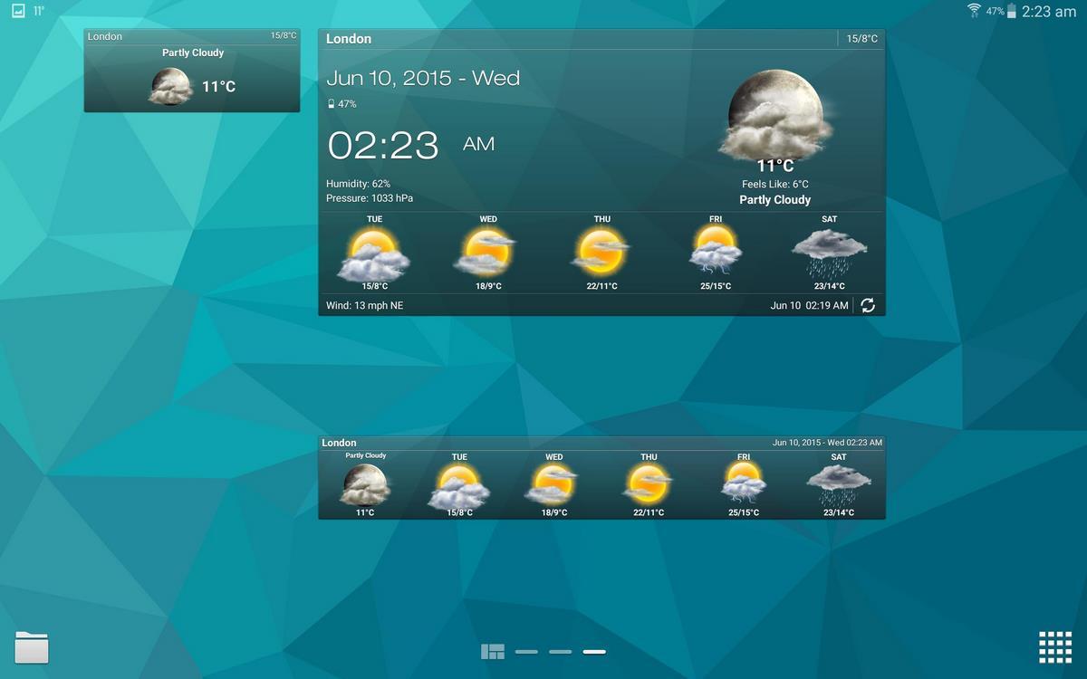 las mejores apps con widgets del tiempo para android