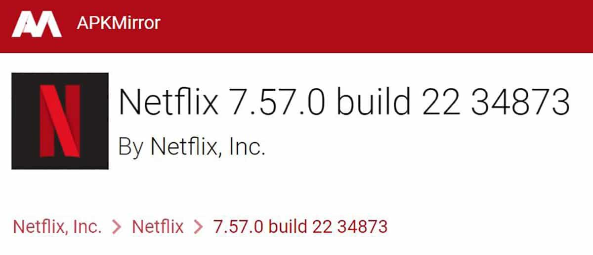 Cómo instalar Netflix en móviles no compatibles mediante APK