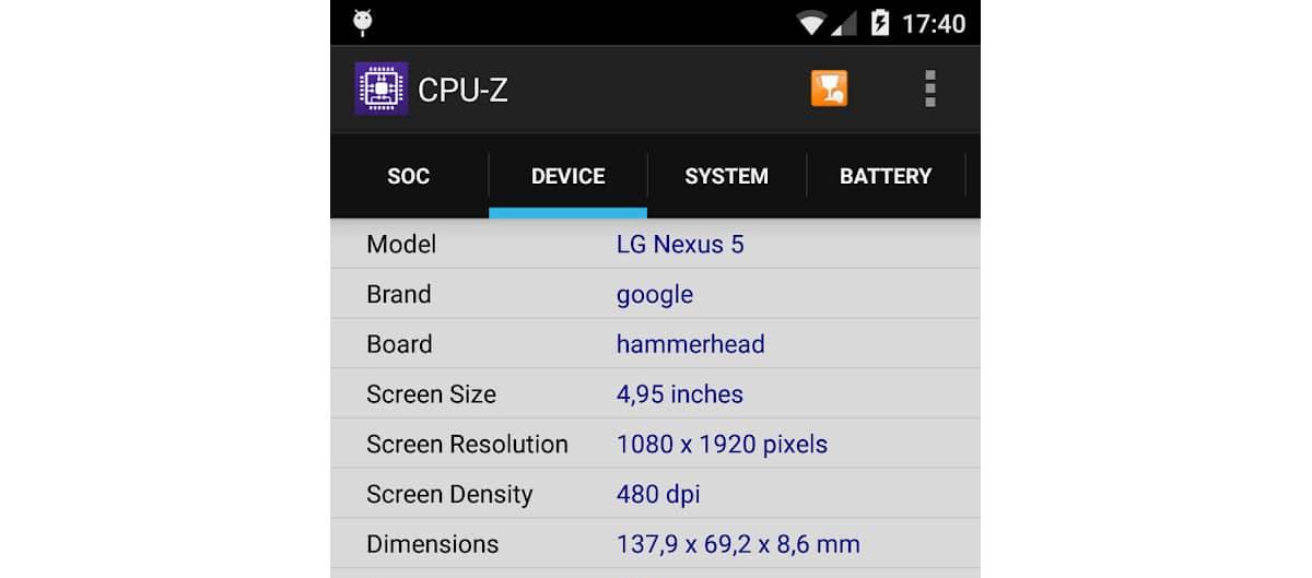 Como saber resolución en pantalla Android