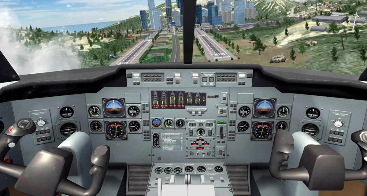 Simulador de piloto de vuelo de avión