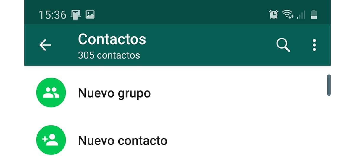 Añadir contacto nuevo