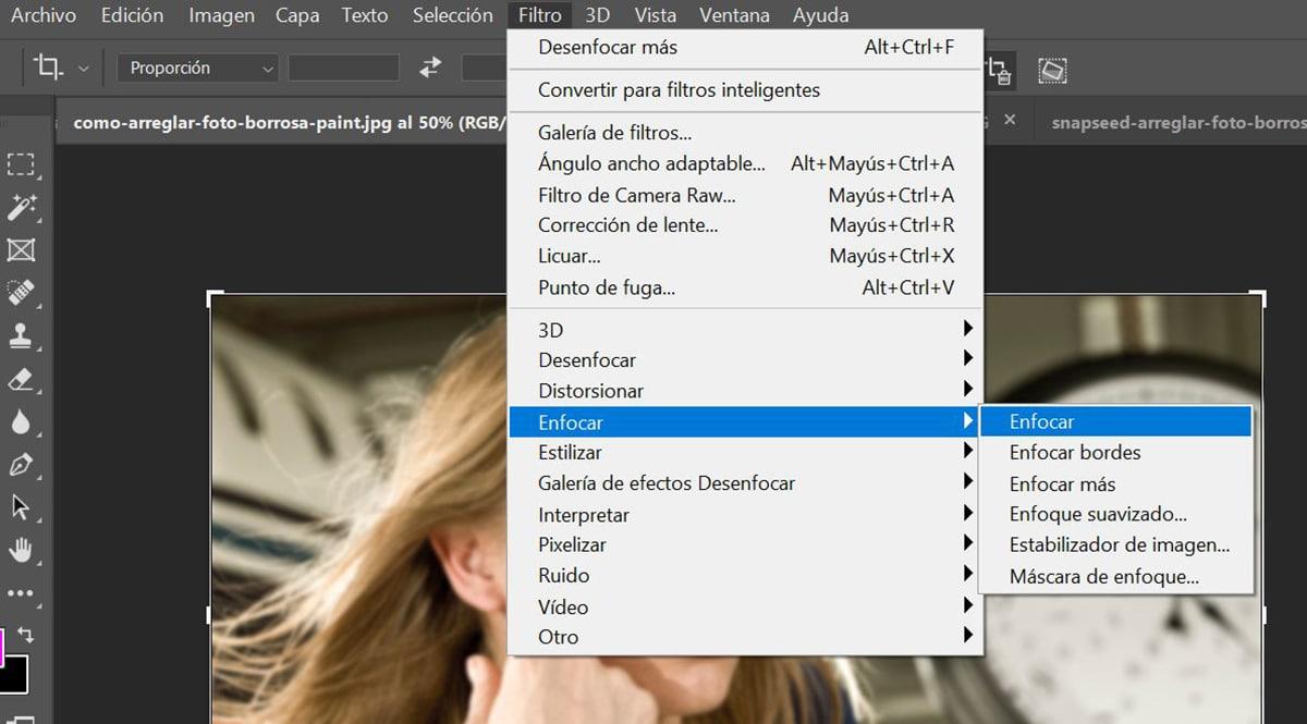 Adobe Photoshop Enfocar