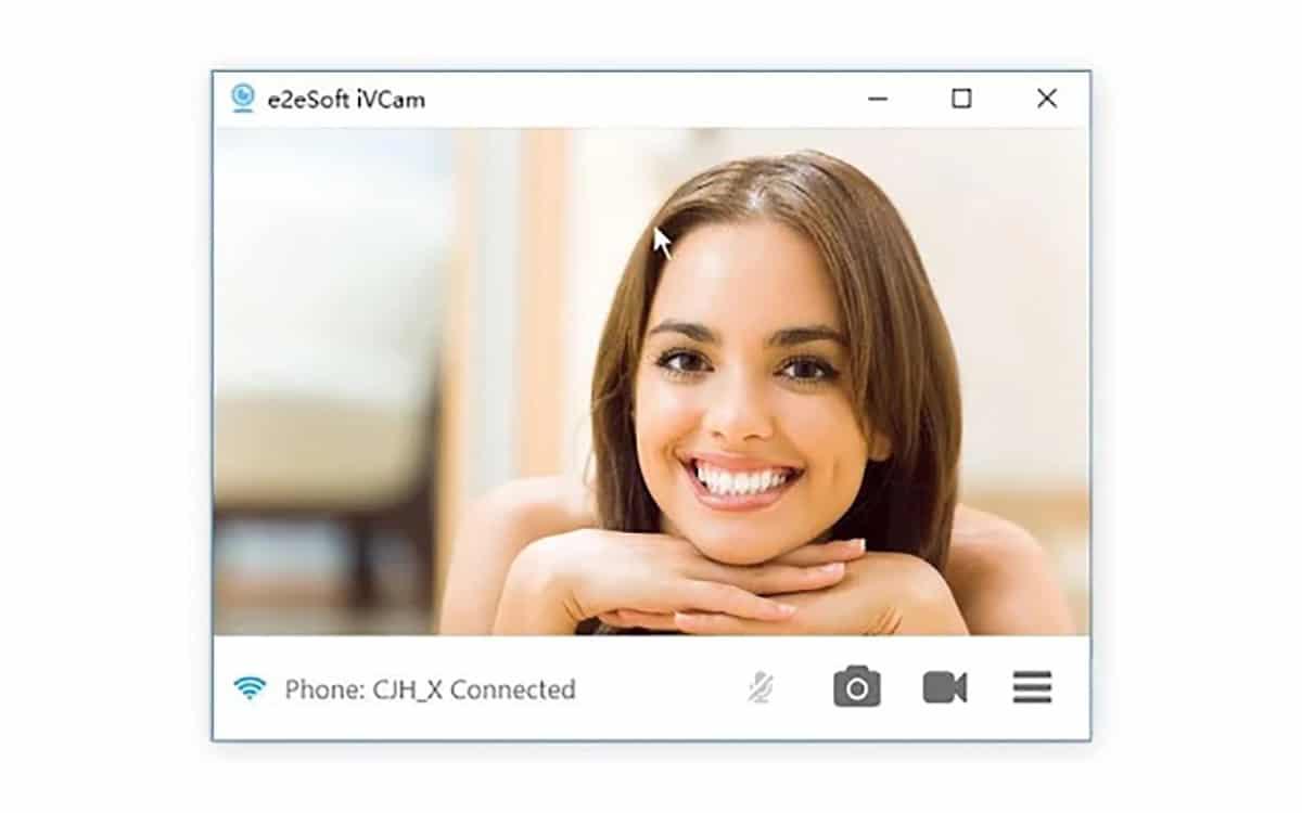 Cliente PC para usar el móvil como cámara principal