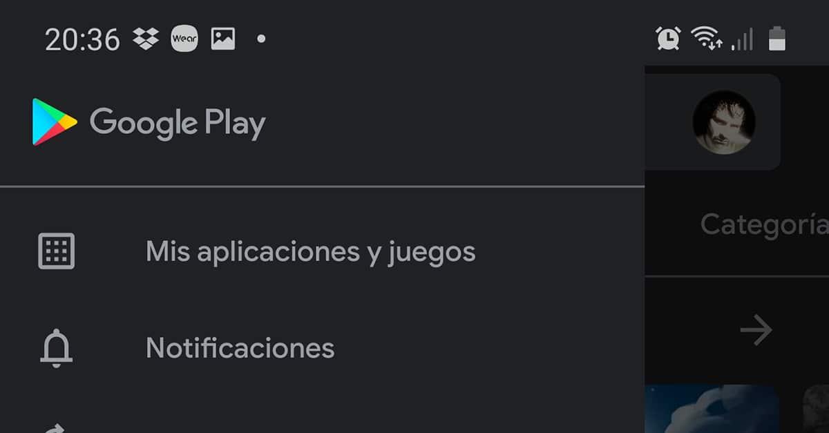 Historial de aplicaciones en Google Play