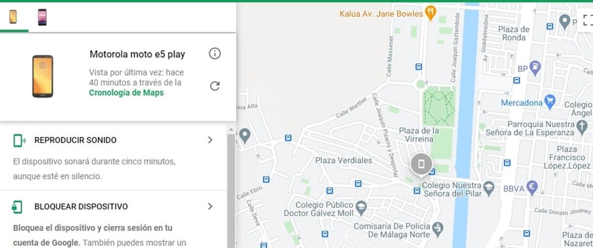 Encontrar móvil mediante Android Device Manager web