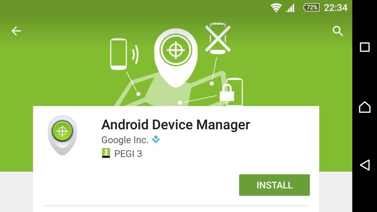 Android Device Manager en Play Store