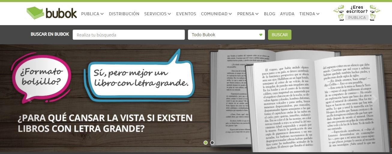 Bubok web para descargar ebooks