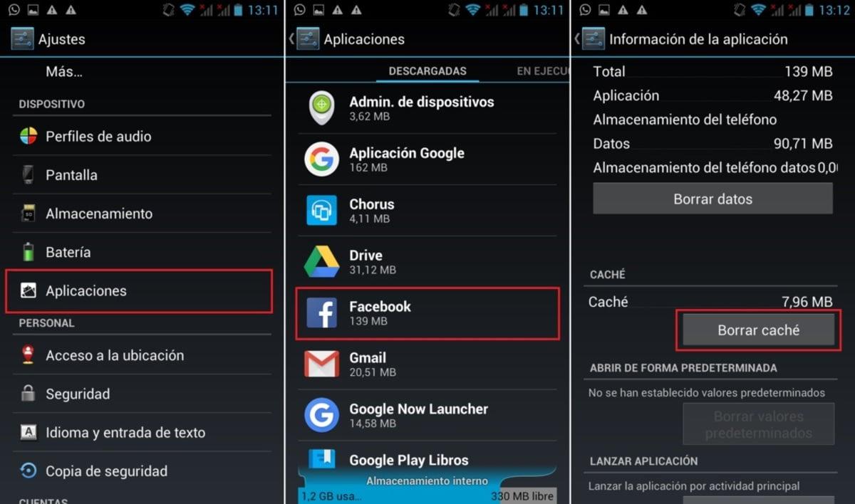 Borrar Caché Android