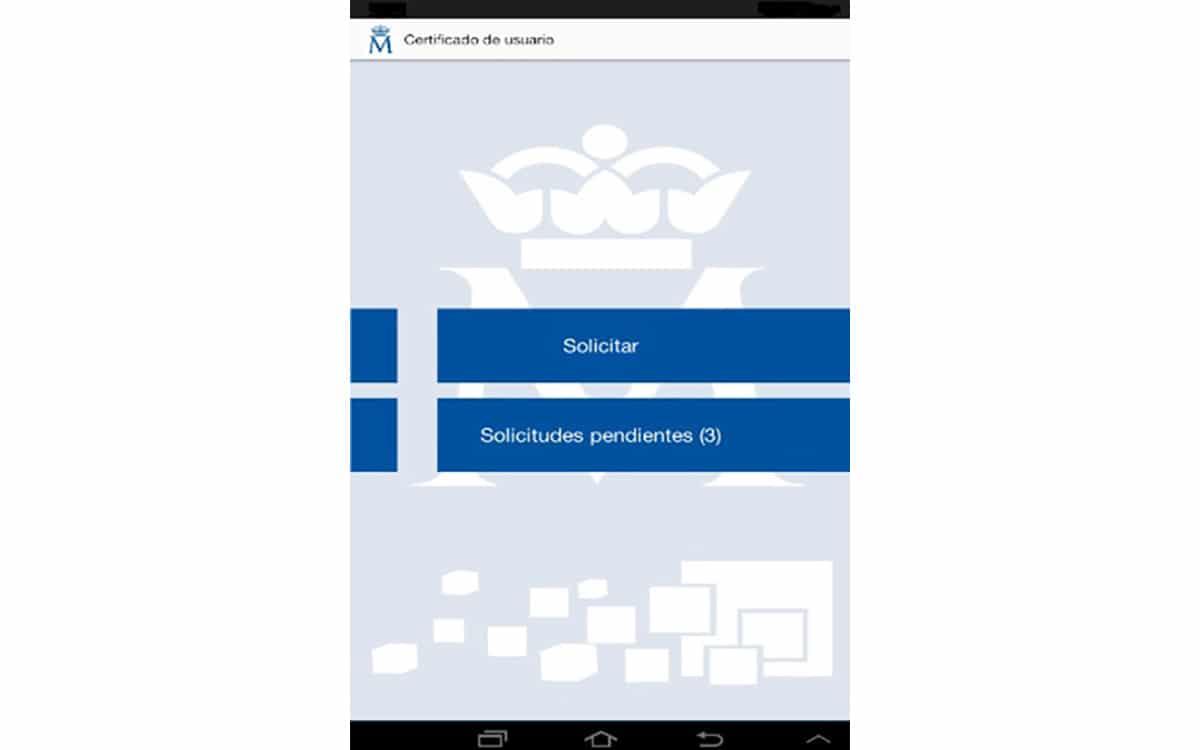 App oficial para solicitar certificado digital de usuario en Android