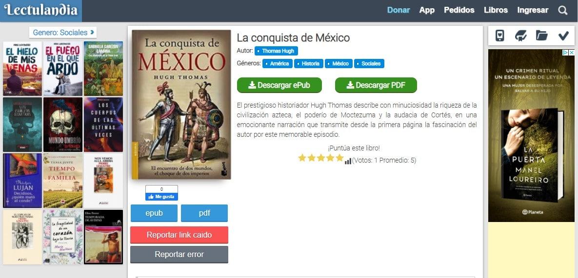 Como descargar libros en Lectulandia