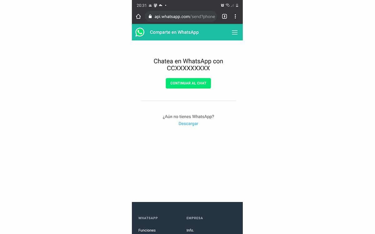 Enviar WhatsApp sin contacto