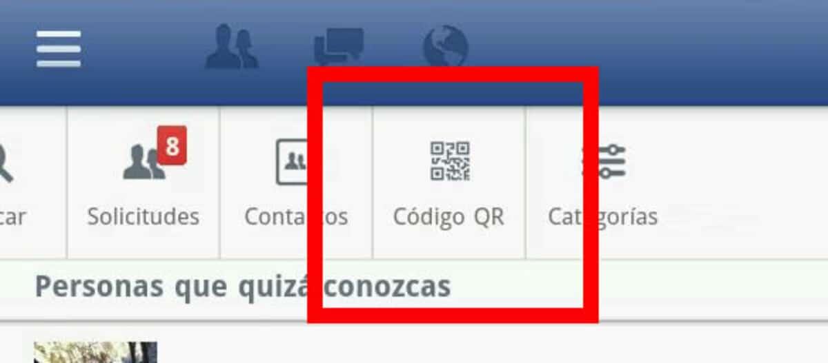 Código QR Facebook