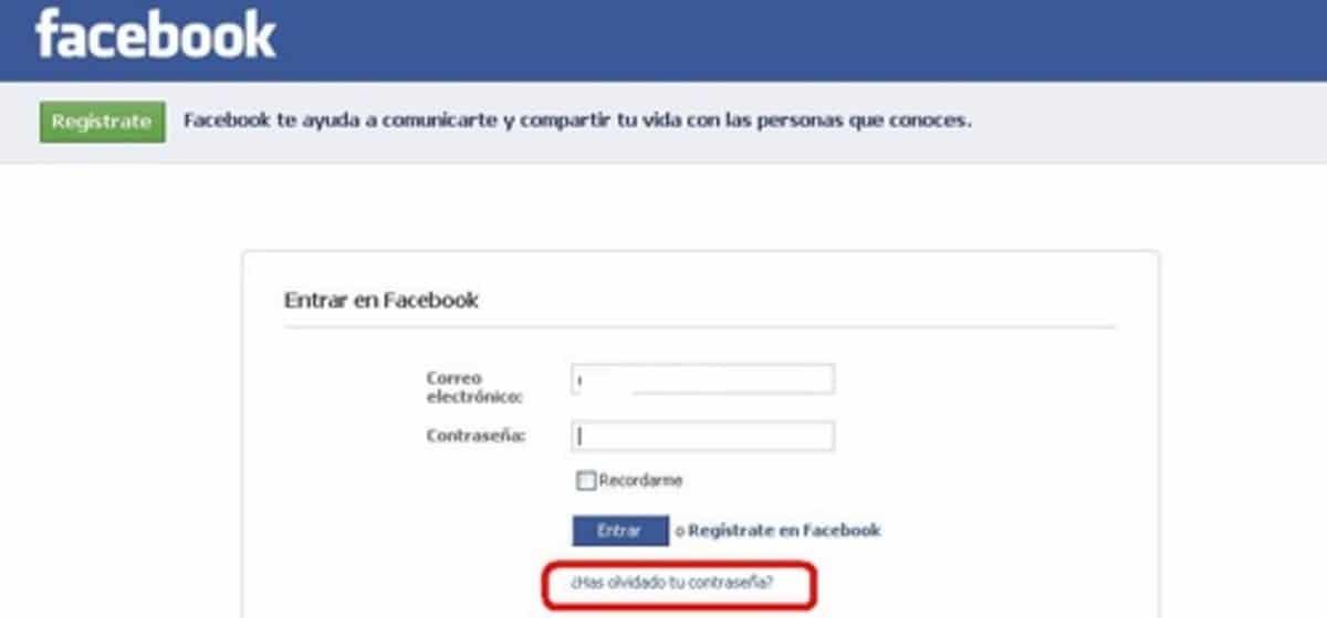 recuperar telefono facebook