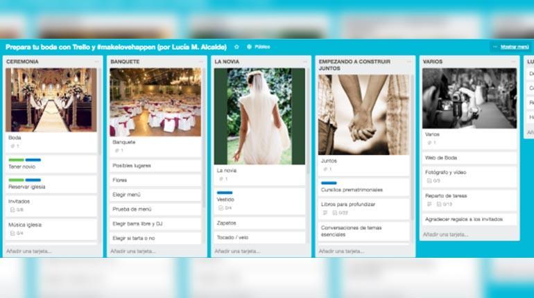 Las mejores apps para organizar una boda