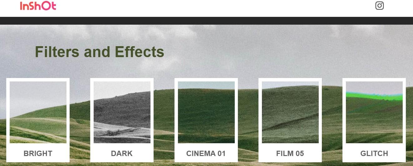 Qué es inshot y filtros para fotos