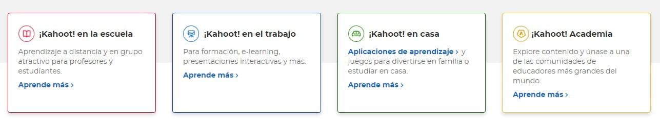 Kahoot para la clase, trabajo o amigos