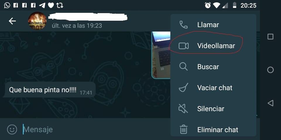 Videollamar Telegram