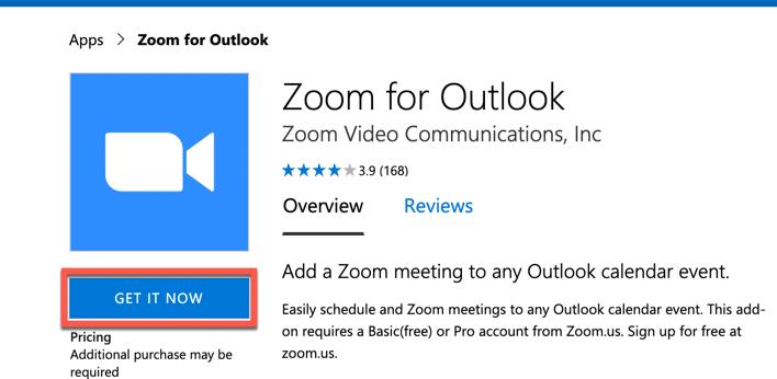 Enlaza Outlook y Zoom