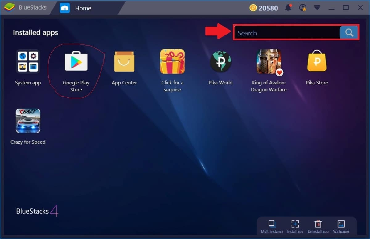 BlueStacks Play Store