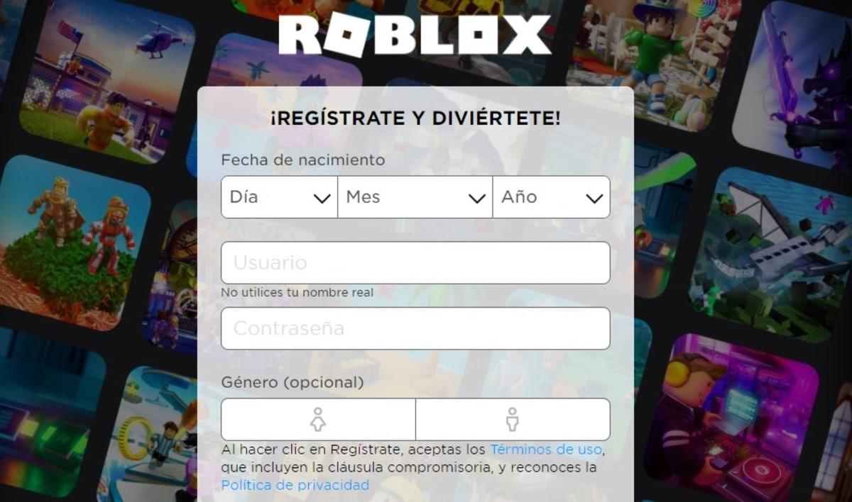 Roblox registro