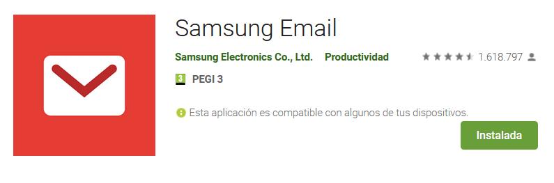 Apps de emails Samsung Email