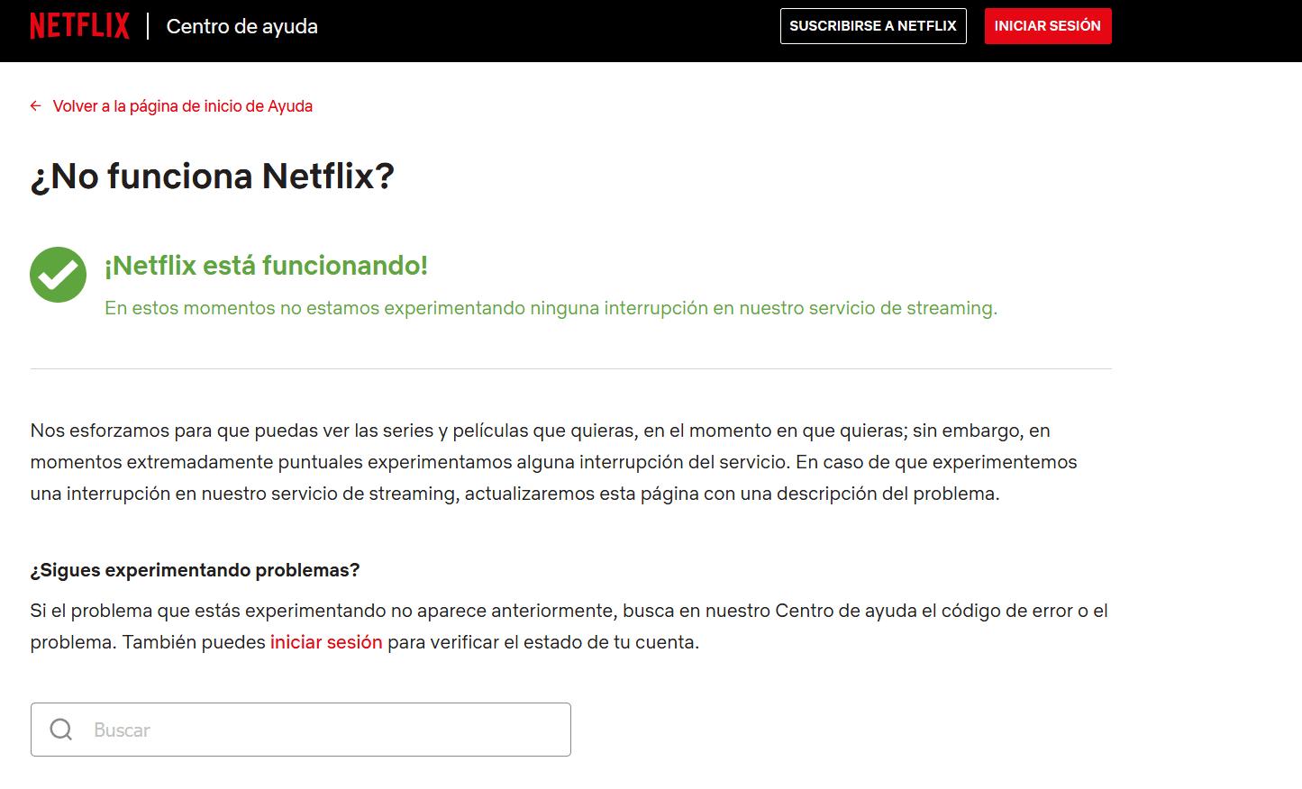 Centro de ayuda de Netflix