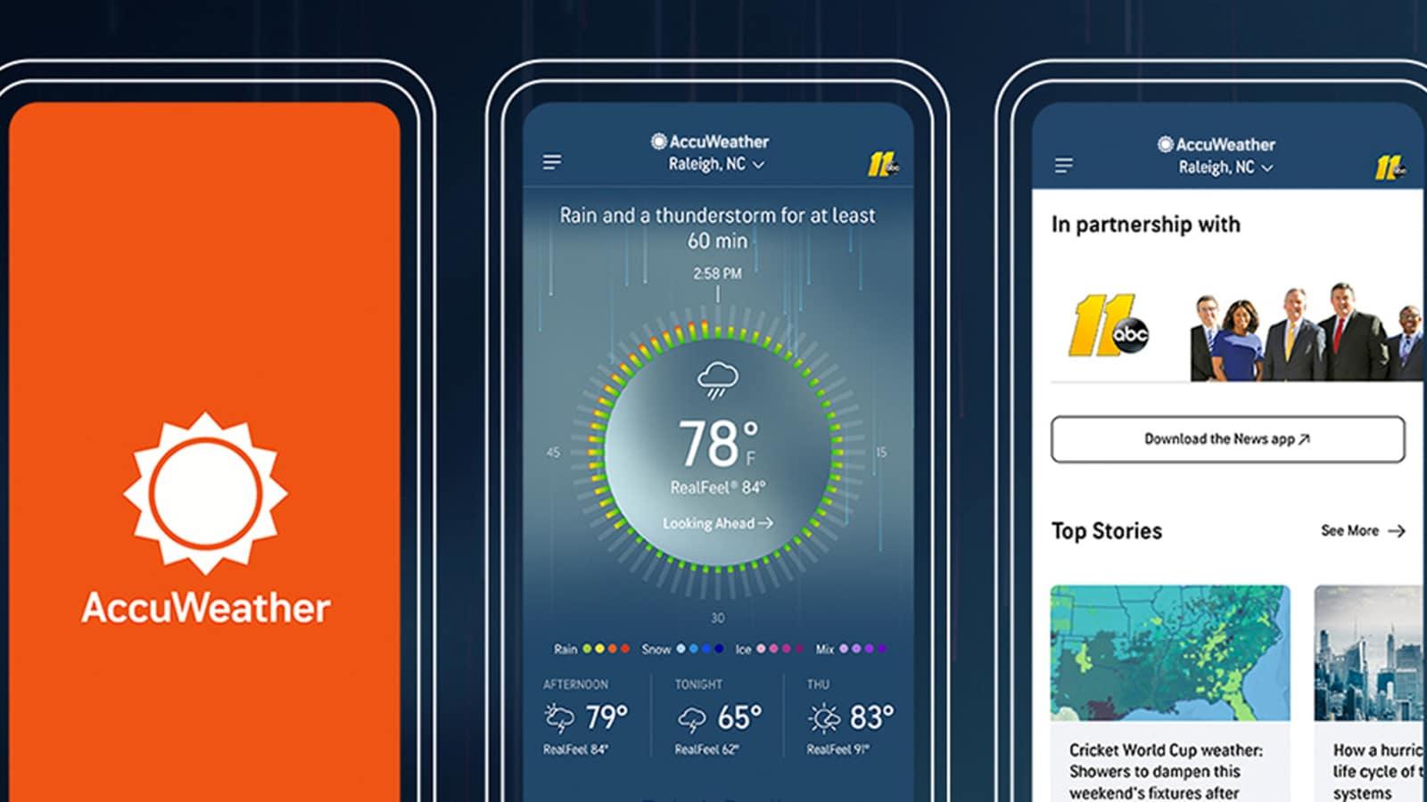 Accuweather mejor app tiempo