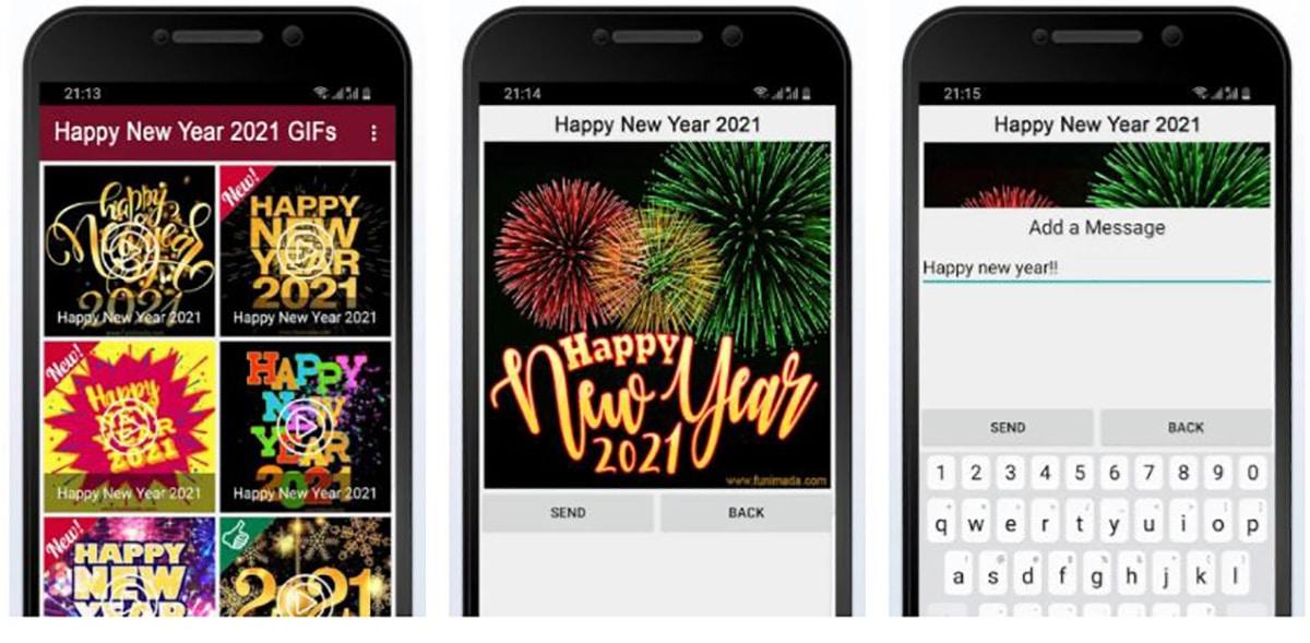 Feliz año nuevo Tarjetas GIF