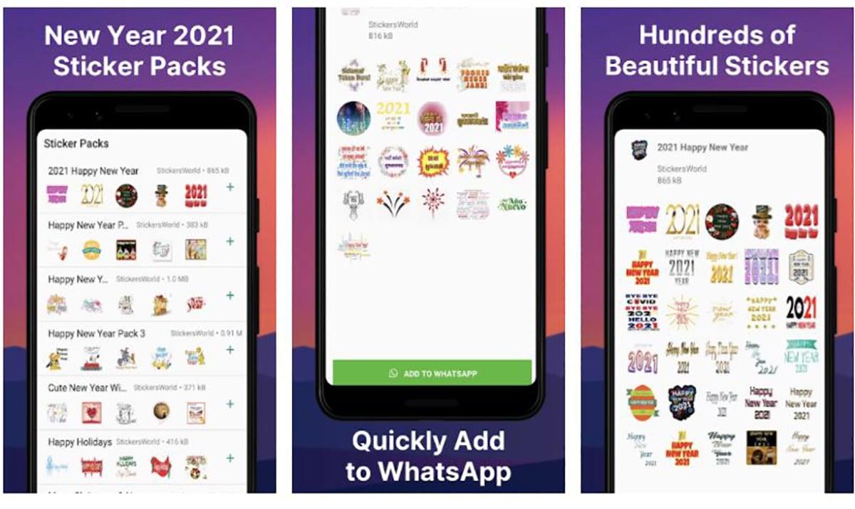 Stickers New Year WhatsApp