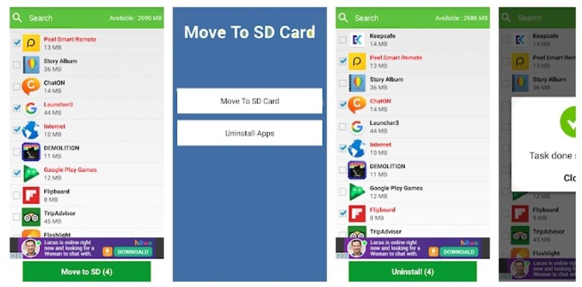 apps tarjeta ssd