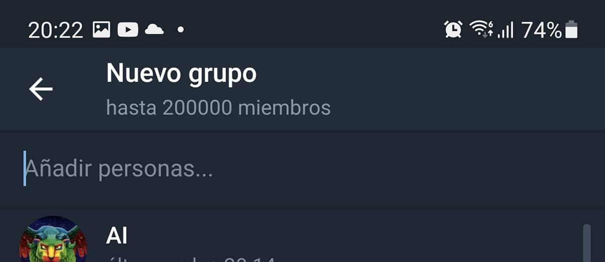 Nuevo Grupo en Telegram